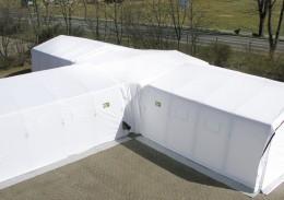 Andockmöglichkeiten an Zelte und Container