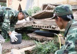 Einsatz im Erdbebengebiet in China