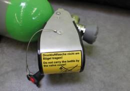 Ventilschutz - Verhindern Sie ein unkontrolliertes Öffnen von Flaschenventilen bei Erschütterungen oder beim Transport.