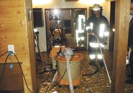 Schnelle Hilfe nach Überschwemmungen oder Rohrbrüchen. (Foto: Feuerwehr Roßdorf)