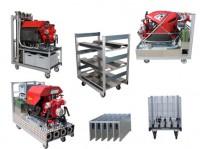 Rollcontainer Pumpen und Schläuche